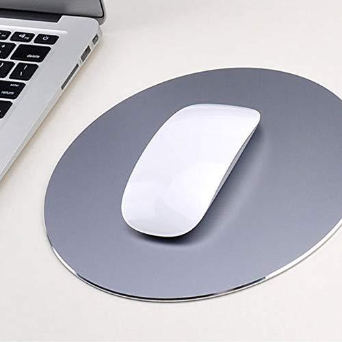 Runde Mauspad Aluminium Anti Slip Gummiboden Gaming Mouse Pad Computer Zubehör