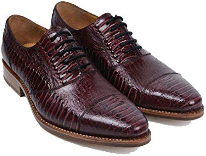 Scarpe Scarpe Scarpe da Uomo in Pelle Fashion Business Inghilterra Scarpe da Sposa High-End in Pizzo A Punta Light Luxury,rosso-Marronee-37 | Outlet  8a2f49