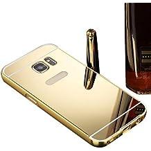 Internet Aluminio fino espejo PC caso parachoques metálico cubierta trasera para Samsung Galaxy S7
