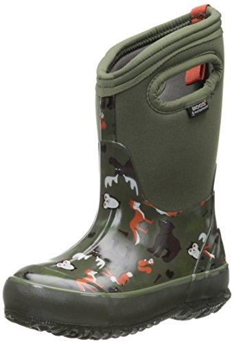 Bogs Kids Classic Woodland Winter Snow Boot Dark Green
