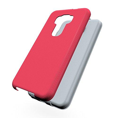 ZenFone 3 (ZE552KL) Hülle,EVERGREENBUYING Abnehmbare Hybrid Schein ZE552KL Tasche Kratzfest Schutzhülle Case Cover mit Rutschfest Etui für Asus Zenfone3 ZE552KL 5.5inch Schwarz Rosa