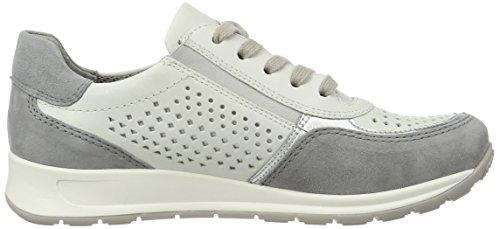 ara Damen Osaka Sneaker Weiß (Stahl, Silber/Cloud)