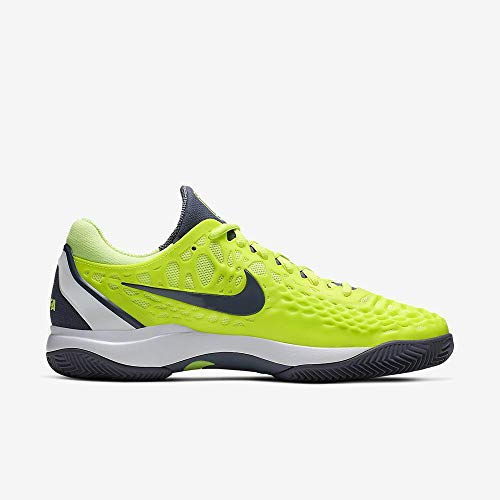 Nike Air Zoom Cage 3 Cly, Scarpe da Tennis Uomo, Multicolore (Volt Glow/Light Carbon/White 701), 42.5 EU