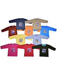 10 New Full Sleeve Cotton Tshirts for Baby Boys and Girls