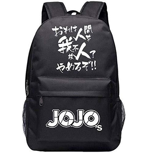 Ailin Online JoJo\'s Bizarre Adventure Leuchtend Rucksack, Japanisch Anime Große Kapazität Laptop Tasche für Business Reise und Schule - Stil 02