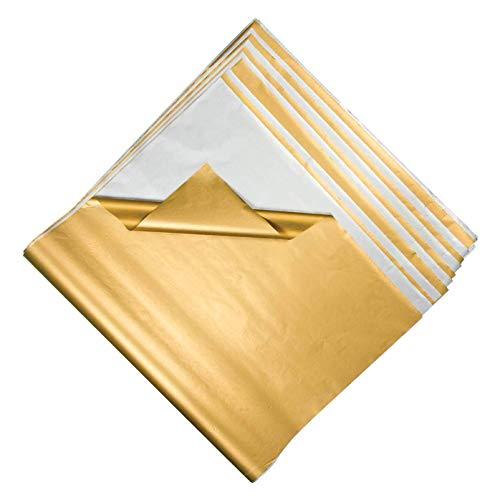 120 grandes feuilles de papier de soie doré ou argenté (taille des feuilles : 100 cm x 66 cm). 60 or / 60 argent.