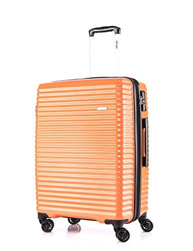 Verage Vortex Trolley Hartschale-Koffer in Orange M-24 erweiterbar, geruchsneutraler Reisekoffer mit TSA Schloss, 4x360°-Zwillingsrollen, umweltfreundliches Material S-PET