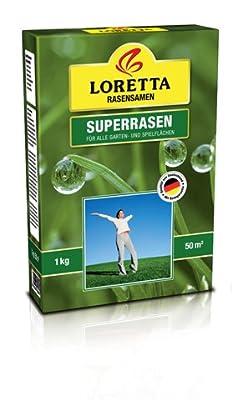 Loretta Superrasen 1kg (50m²) von Loretta Rasensamen - Du und dein Garten
