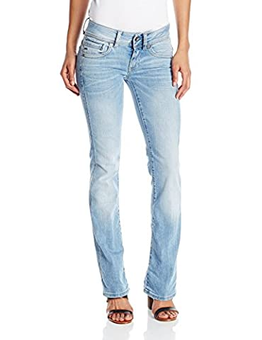 G-Star Damen Midge Saddle Mid Bootleg Wmn Jeans, Blau (light aged), 31/36