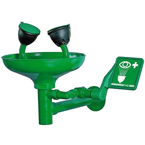 Augendusche für Wandbefestigung mit Wanne - EiS Experts in Safety - Grün