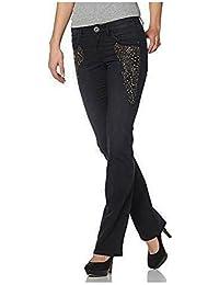 Jeans avec ornements Femmes Taille longue de Arizona