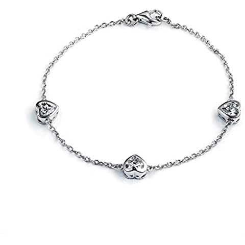 Dormith® Plata de ley 925 corazón pulseras 2,67 quilate AAA circonio cúbico para las mujeres moda joyas pulsera de plata