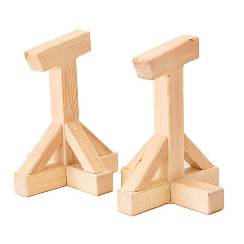 Wooden Fitness Training Push Up Handstand Blocks, Great for Home Gym and Strength Building