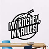 LLLYZZ Meine küche meine regeln wandtattoo messer vinyl aufkleber kunst dekoration wandbild abnehmbare wandaufkleber home küche dekoration 56 * 59 cm