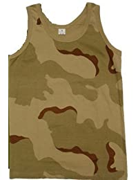 Adultes Camouflage Armée Maillot De Corps Gilet Haut - Olive, XXXL