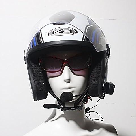 ParaCity V2-500 1PCS 500m 2 Riders Bluetooth Motorcycle Helmet Interphone Intercom Headset Call Handsfree for Phone Mp3 UK Plug (V2-500)