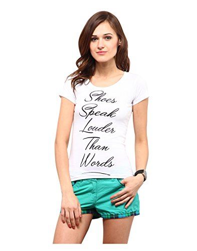 Yepme Shoes Speaks Tee - White -- YPMTEES5195_M  available at amazon for Rs.209