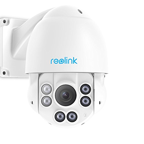 Dome Security Cam (Reolink PTZ PoE IP Überwachungskamera 5 Megapixels Super HD 3072x1728 Pan Tilt Schnelles 4X Optisher Zoom Outdoor Indoor RLC-423-5MP)