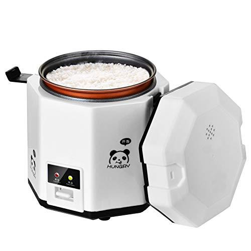 QAIYXM 1.2L Mini-Reiskocher, elektrische Brotdose, herausnehmbarer Antihaft-Topf, Warmhaltefunktion, Geeignet für 1-2 Personen - zum Kochen von Suppen, Reis, Eintöpfen, Getreide und Haferflocken