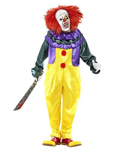 Klassisches Horror Clown Kostüm mit Maske M (Klassische Clown Kostüme)