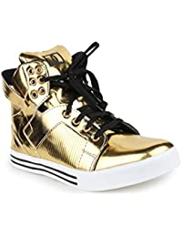 Appe Men's Gold Synthetic casual shoes:APPE-0020GOLD-6