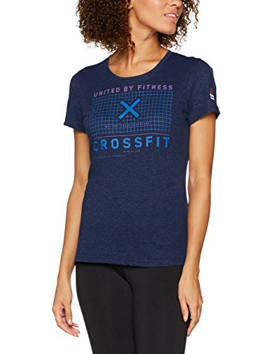 Reebok RC Poly-Blend tee Camiseta, Mujer, Azul (Colnav), L
