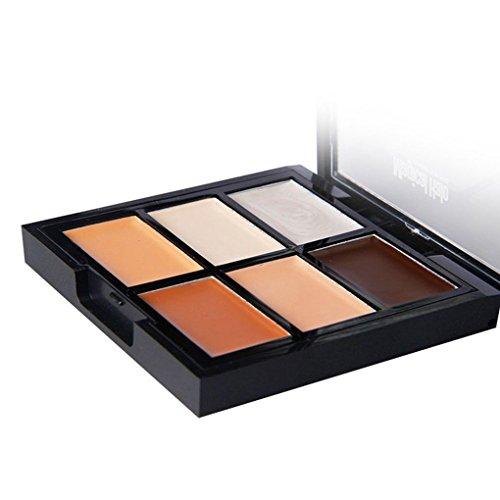 Meisijia Magique Halo 6 couleurs Contour Palette Maquillage visage hydratant blanchissant spot Correcteur Care Foundation Crème