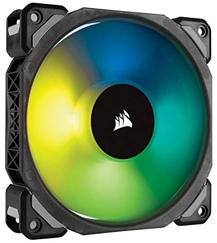 Corsair ML120 PRO RGB LED 120mm PC-Gehäuselüfter (mit Magnetschwebetechnik, PWM, ohne Lighting Node/ohne Hub) schwarz