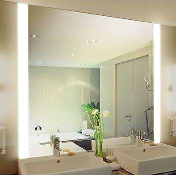 spiegel badezimmer badspiegel mit beleuchtung iona m313n2v design fa 1 4 r beleuchtet neon licht modern kosmetik toiletten bad badezimmerspiegel beleucht