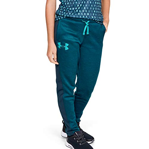 Under Armour Mädchen Girls\' Armour Fleece Pant Hosen, Tandem Teal (431)/Atemberaubendes Blau, Youth X-Large