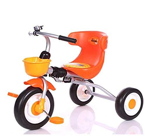 WENZHEN Balance Bike für 3 Jahre alt, Kinder Balance Bike Dreirad Kinder S Kinderwagen Trike 3 Rad Pedal Bike Multicolor Indoor & Outdoor Coffee @ A_Orange