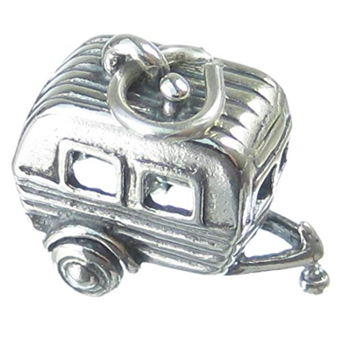 Wohnwagen, 925 Sterlingsilber 1 x Camper Camping charms Anhänger CF430