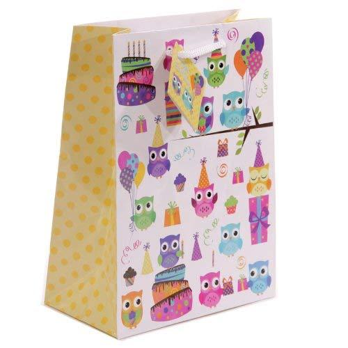 Party Eule Design Geschenktasche 17x 9x 23cm Geschenke, und, Karten, Karten, Idee Party, Tasche, Toys