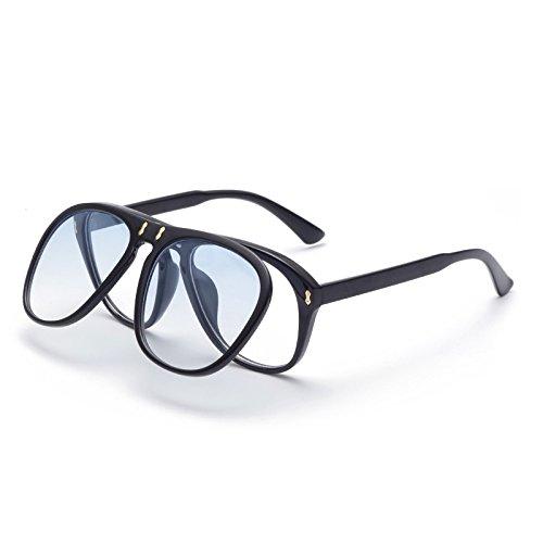 SUNGLASSES Retro personifizierte Schlag-Sonnenbrille-europäische und amerikanische große Stern-Sonnenbrille-Neue Sonnenbrille (Farbe : Gradient Blue)