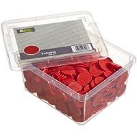 En-Joy Gravierte Pfandmarken - Roter Stern - 500 Plastikmünzen - 29 mm