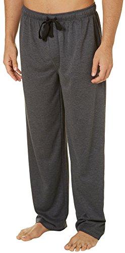 Jockey Men's Poly Rayon Jersey Knit Sleep Pants Charcoal Heather Medium (Pants Knit Jersey)
