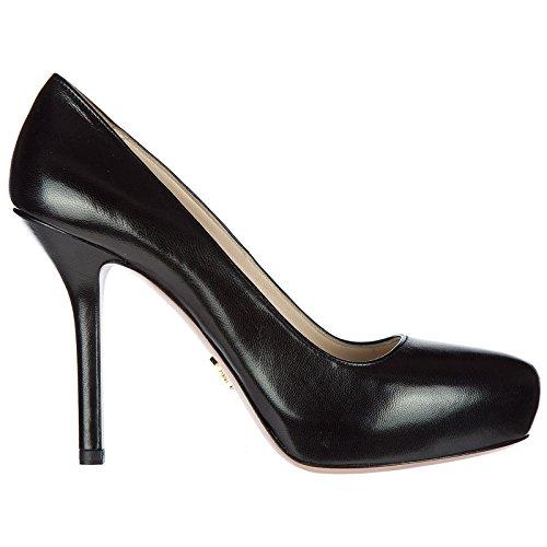 Prada Damenschuhe Leder Pumps mit Absatz High Heels Schwarz