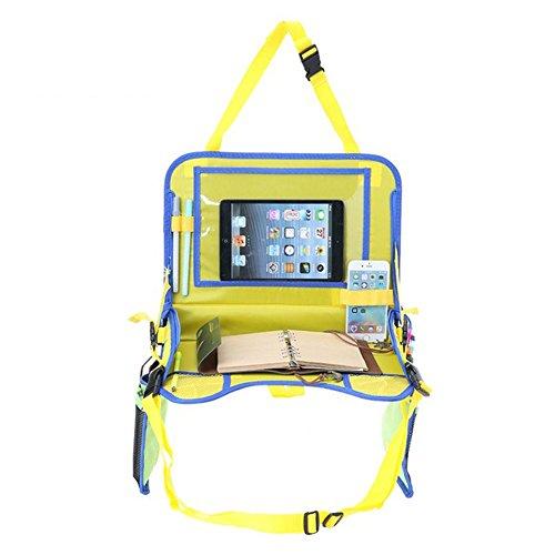 myfei Kids Travel Tablett mit Ständer Halterung, tragbare Multi Funktionen Mesh-Schreibtisch für Auto Fashion Tablett Glas-massagegerät Rosa