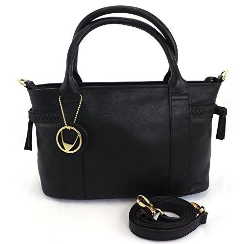 hidesign-damen-henkeltasche-schwarz-schwarz