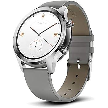 Ticwatch Montre connectée Mobvoi C2, Smartwatch Classique sous Google Wear OS, Indice IP68,