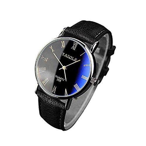Herren Uhren Männer Chronograph Luxus Design Wasserdicht Armbanduhr Geschäfts Beiläufig Mode Kleid Sport Analog Quarz Uhr mit Gold Gehäuse Römische Ziffern Blau Zifferblatt Schwarz Uhrenband