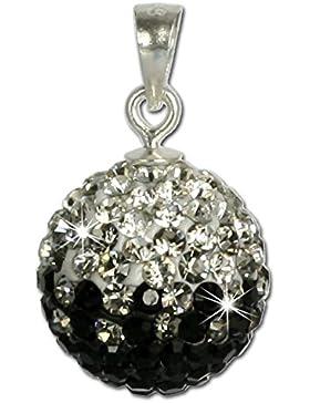 SilberDream Glitzer Anhänger Swarovski Kristalle schwarz ICE Silber Kettenanhänger mit Glitzerkristallen für Kette...