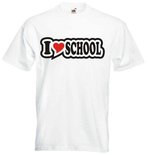 T-Shirt Herren - I Love Heart - I LOVE SCHOOL Weiß