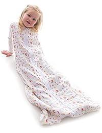 Snoozebag Seaside Fun 100% Muslin Cotton Unisex Light 0.5 tog Summer Nursery Baby Sleeping Bag (18-36 months)
