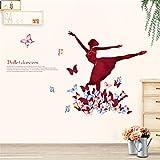 Mddjj Home Küche Kunstwerk Das Ballett Mädchen Tanzen Auf Dem Schmetterling Wandtattoos Wohnkultur Wohnzimmer Kopfteil Hintergrund Tapete Poster Kunst Abnehmbar