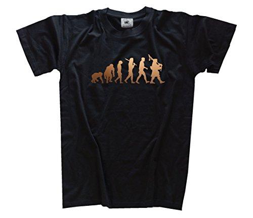 Shirtzshop T-Shirt Bronze Edition Dudelsack Bagpipe Schotte Evolution, Schwarz, XXXL, ss-evbro_dudel-t