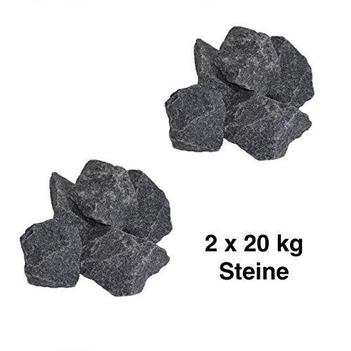 Harvia Saunasteine-Set 40 kg 5-10 cm Ofensteine Steine für Saunaofen Elektroofen R-990