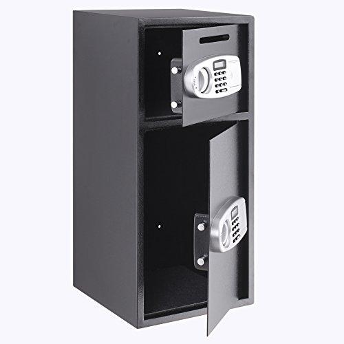 VEVOR Elektronischer Safe Tresor Doppeltüren Sicherheitsschrank 3MM Stahltür Möbeltresor Elektronikschloss Tresore für Geld Schmuck Waffen - 3