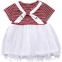 Berimaterry Vestido de Niña Floral Bowknot Vestido de la Honda Princesa Vestido Bautizo Bebé Niñas Vestidos