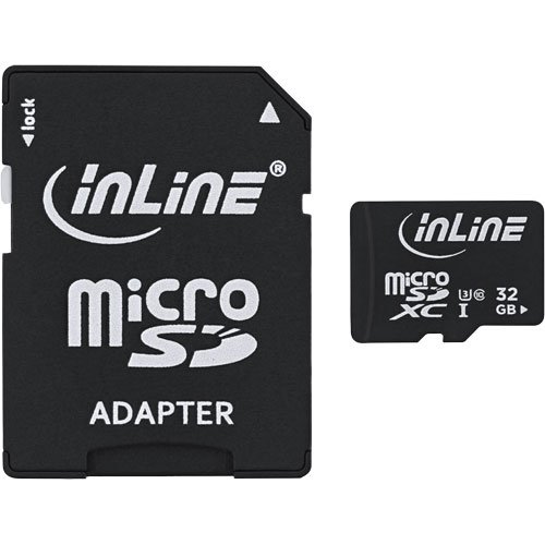 InLine 35053I 32GB MicroSDXC Clase 10 Memoria Flash - Tarjeta de Memoria (32 GB, MicroSDXC, Clase 10, 30 MB/s, Negro)